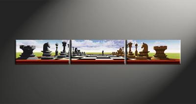 home decor, 3 piece wall art, abstract canvas art prints, modern huge canvas art, pawns large canvas