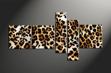 animal canvas art prints, home decor,5 piece canvas art prints, wildlife canvas print, leopard canvas print