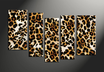 animal canvas art prints, home decor,5 piece canvas art prints, wildlife canvas print, leopard canvas print