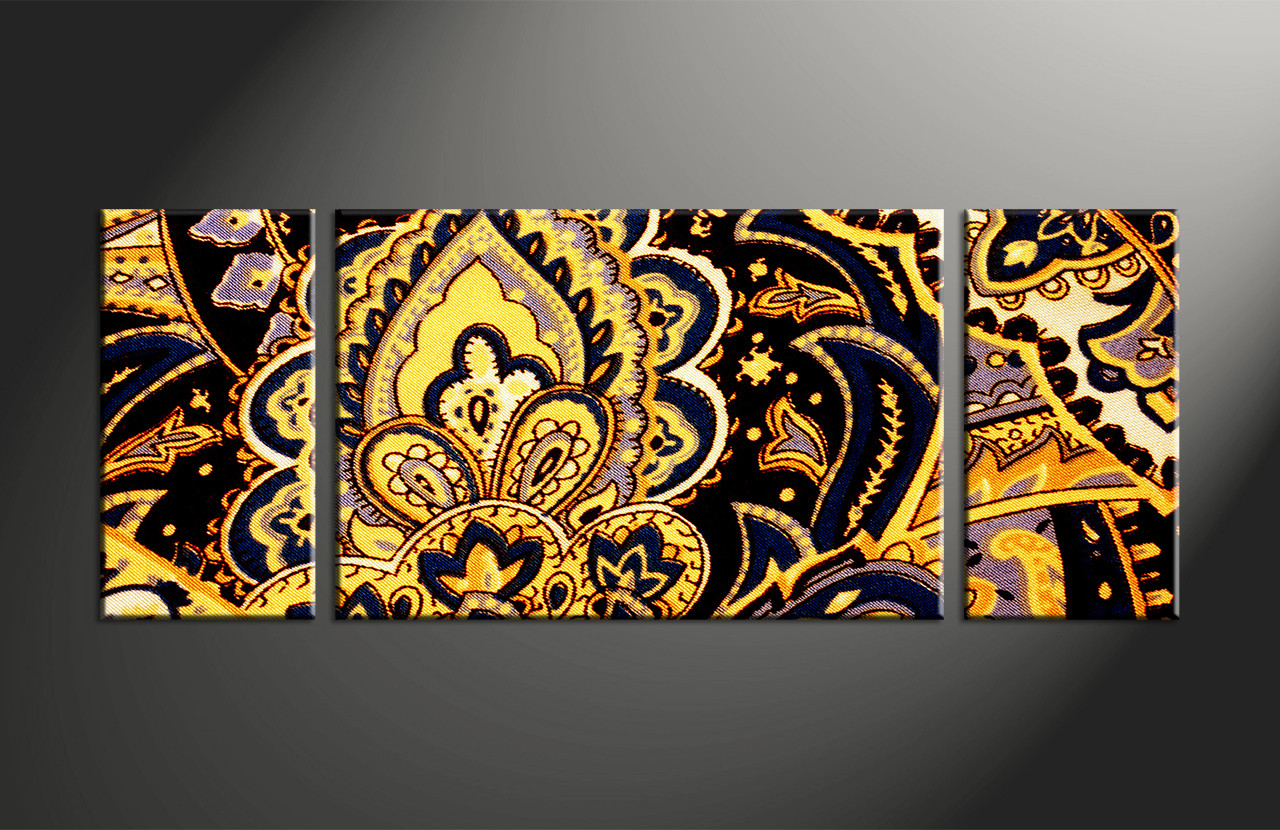 Yellow Abstract Canvas Art