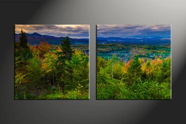 home décor, 2 piece canvas art prints, mountain canvas art prints, scenery huge canvas art, landscape multi panel art