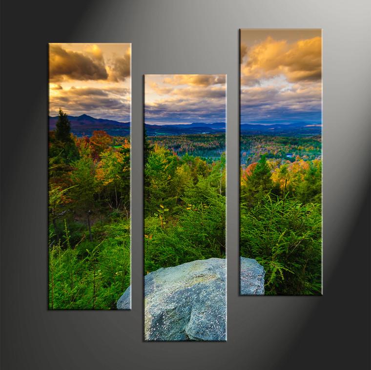 home décor, 3 piece canvas art prints, landscape artwork, forest large canvas, nature wall décor