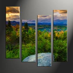 home décor, 4 piece canvas art prints, landscape artwork, forest large canvas, nature wall décor