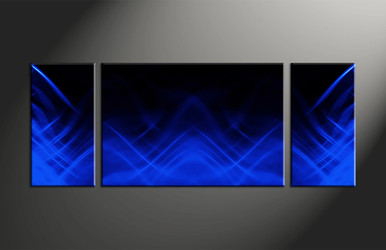 Home Decor, 3 piece canvas art prints, abstract artwork, blue large pictures, abstract wall decor
