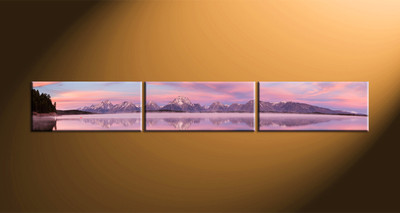home decor, 3 piece group canvas, landscape artwork, ocean large canvas, mountain huge canvas art