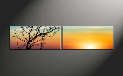 home decor, 2 piece canvas art prints, landscape canvas print, sunset canvas photography, sunrise art