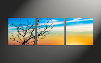 home decor, 3 piece large pictures, landscape canvas print, sunset huge pictures, sunrise artwork