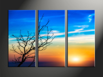 home decor, 3 piece large pictures, landscape large canvas , sunset huge pictures, sunrise artwork