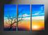 home decor, 3 piece large pictures, landscape large canvas , sunset huge pictures, sunrise artwork