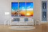 living room Art, 3 piece canvas wall art, sunset photo canvas, sunrise artwork, landscape group canvas