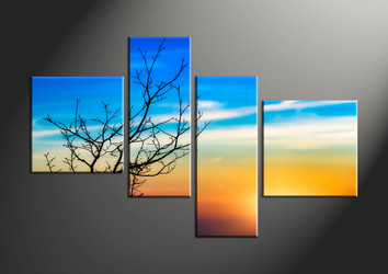 home decor, 4 piece large pictures, landscape large canvas , sunset huge pictures, sunrise artwork