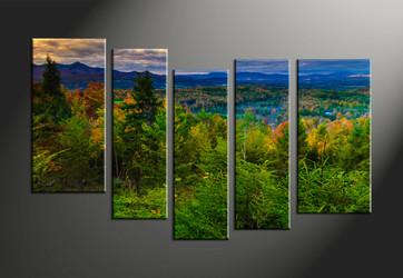 home décor, 5 piece canvas art prints, landscape art, scenery canvas print, mountain décor