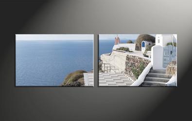 home decor, 2 piece canvas art prints, house canvas art prints, ocean huge canvas art, scenery canvas wall art