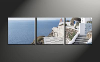 home decor, 3 piece canvas art prints, house canvas art prints, ocean huge canvas art, scenery artwork
