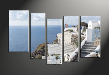 home decor, 5 piece pictures, house canvas art prints, ocean huge canvas art, scenery multi panel art