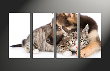 home decor, 4 piece canvas art prints, wildlife canvas art prints, dog huge canvas art, cat canvas wall art