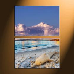home decor, 2 piece canvas art prints, scenery canvas photography, sand huge canvas art, ocean canvas art prints