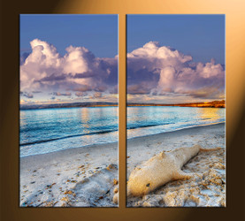 home decor, 2 piece canvas art prints, ocean canvas print, scenery canvas photography, sand art
