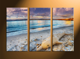 home wall decor, 3 piece canvas art prints, sand large pictures, ocean art, scenery wall art