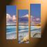home decor, 3 piece canvas art prints, sand canvas print, scenery canvas photography, ocean art
