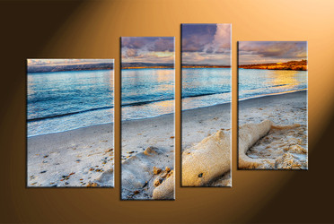 home decor, 4 piece canvas art prints, ocean canvas print, scenery canvas photography, sand canvas wall art