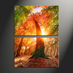 home decor, 2 piece canvas art prints, nature artwork, scenery large canvas, sunrise wall décor