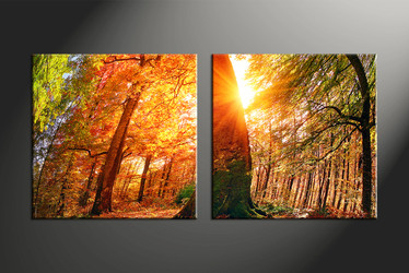 home decor, 2 piece canvas art prints, nature artwork, scenery large canvas, sunrise group canvas