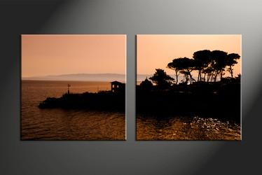 Home Wall Decor, 2 piece canvas art prints, landscape multi panel art, scenery pictures, landscape large canvas