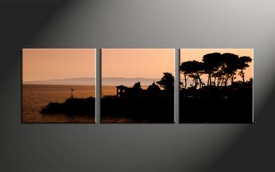 Home Decor, 3 piece canvas art prints, landscape artwork, scenery large canvas, landscape decor