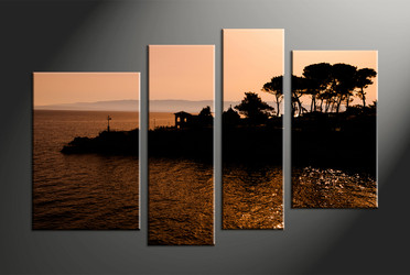 Home Decor, 4 piece canvas art prints, scenery multi panel art, landscape large canvas, landscape canvas photography