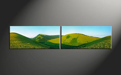 Home Wall Decor, 2 piece canvas art prints, landscape pictures, scenery wall art, landscape huge pictures