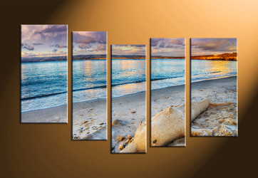 home decor, 5 piece photo canvas, scenery canvas art prints, sand huge canvas art, ocean multi panel canvas