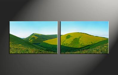 Home Decor, 2 piece canvas art prints, landscape huge pictures, scenery wall art, landscape large pictures