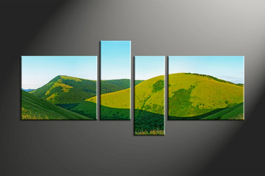 Home Decor, 4 piece canvas art prints, landscape multi panel canvas, landscape large canvas, scenery wall art