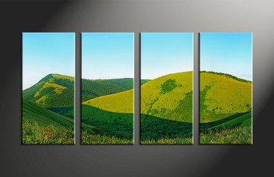Home Decor, 4 piece canvas art prints, landscape multi panel art, landscape large canvas, scenery art