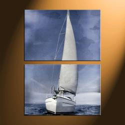 Home Decor, 2 piece canvas art prints, ocean canvas print, ship canvas photography, ocean art