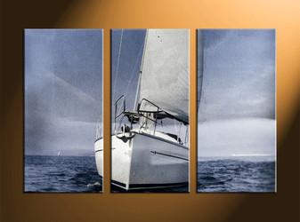 home decor, 3 piece canvas art prints, ocean artwork, ship large canvas, scenery wall decor
