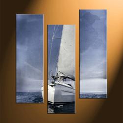 home decor, 3 piece canvas art prints, ship canvas print, scenery canvas photography, ocean art