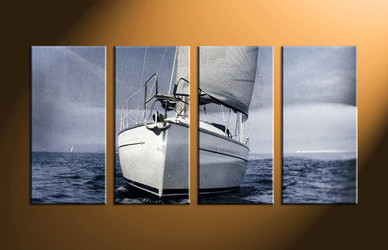 home decor, 4 piece canvas art prints, ocean art, ship large canvas, scenery photo canvas