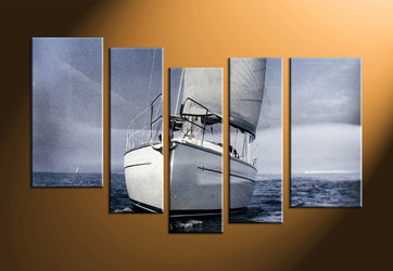 home decor, 5 piece artwork, ship canvas art prints, ocean photo canvas, scenery canvas photography