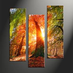 home decor, 3 piece canvas art prints, nature artwork, scenery large canvas, sunrise large pictures