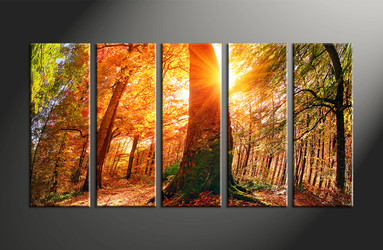 home decor, 5 piece canvas art prints, nature artwork, scenery large canvas, sunrise pictures