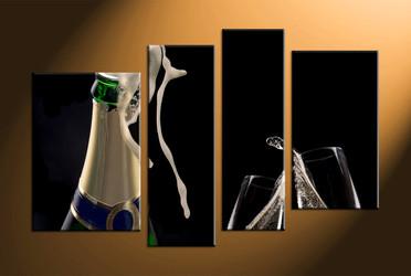home decor, 4 piece canvas art prints, wine multi panel art, wine large canvas, glass art