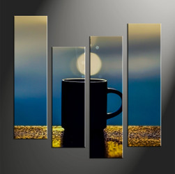 Home Decor, 4 piece canvas art prints, modern large canvas , modern artwork, abstract large canvas