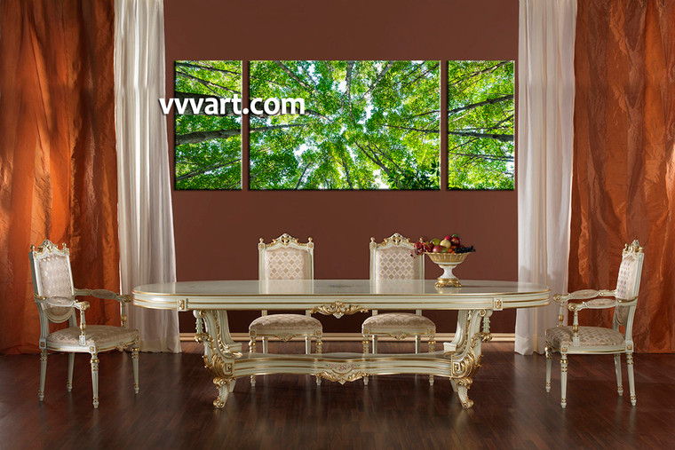 3 piece canvas wall art, forest multi panel canvas, scenery art,dining room decor, scenery artwork