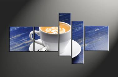 Home Decor, 5 piece canvas art prints, modern canvas print, modern canvas photography, cup huge pictures