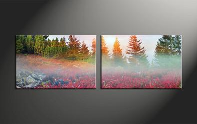 Home Wall Decor, 2 piece canvas art prints, landscape large pictures, scenery art, landscape wall art