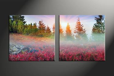 Home Wall Decor, 2 piece canvas art prints, scenery multi panel art, landscape huge pictures, landscape photo canvas