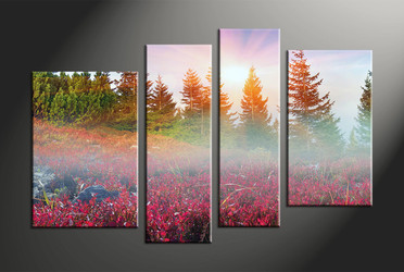 Home Decor, 4 piece canvas art prints, scenery multi panel art, landscape large canvas, landscape art