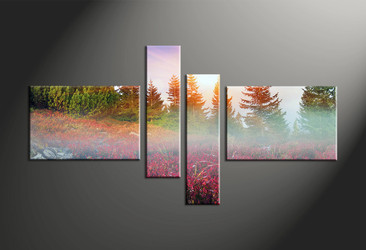 Home Decor, 4 piece canvas art prints, landscape canvas print, landscape canvas photography, scenery canvas wall art